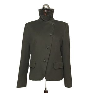 MAX MARA $3990 camel hair funnel neck jacket coat